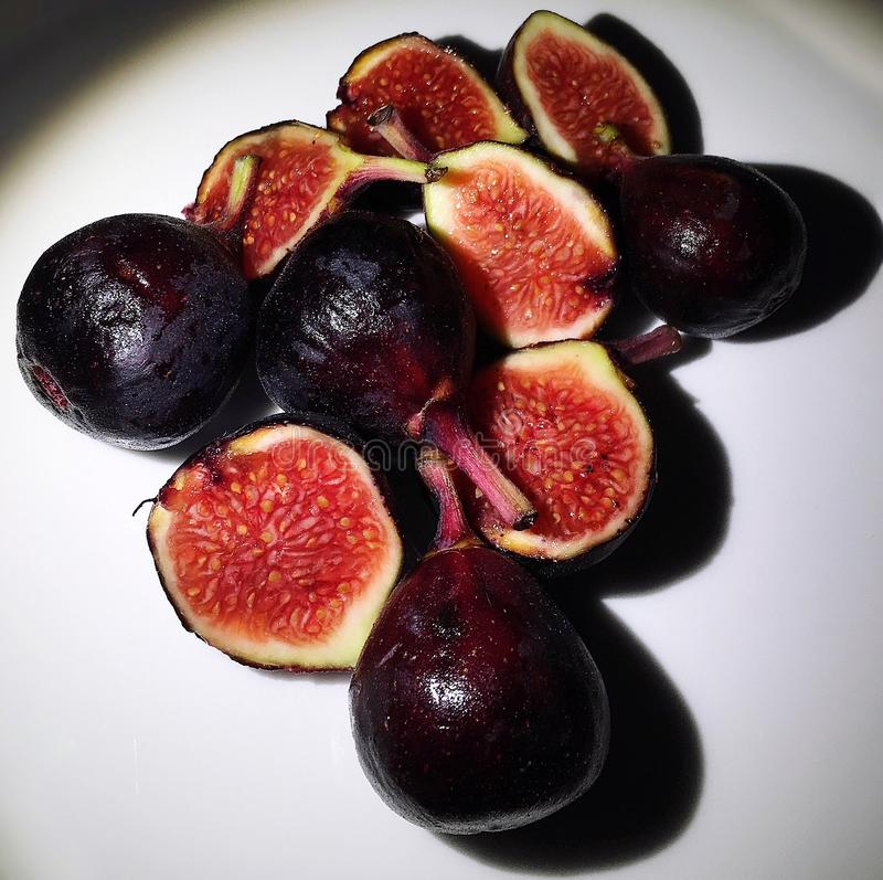 Fig Halves royalty free stock image