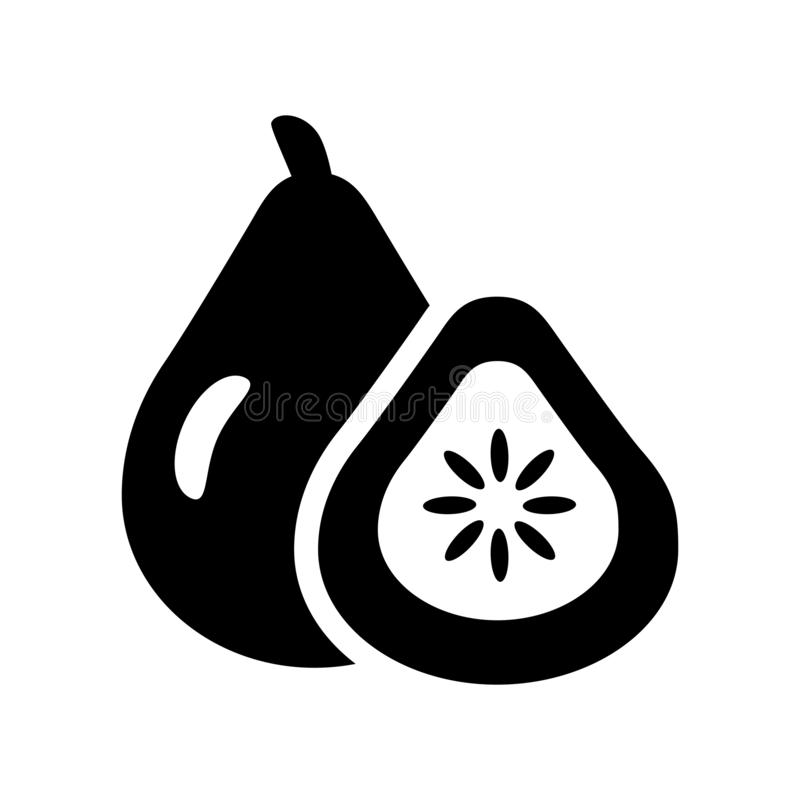 Fig icon. Trendy Fig logo concept on white background from Fruit. S and vegetables collection. Suitable for use on web apps, mobile apps and print media stock illustration