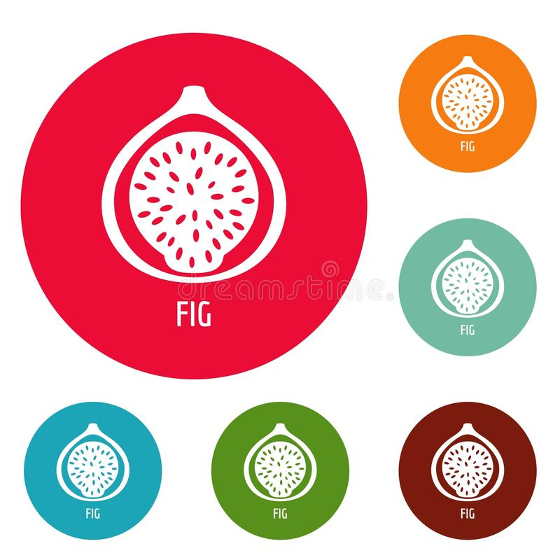 Fig ikon okręgu set ilustracji