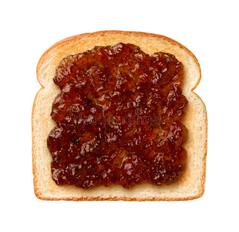 Fig Preserves on Toast. Aerial view of Fig Preserves on Toast. The isolation is on a transparent background in the PNG format royalty free stock photos