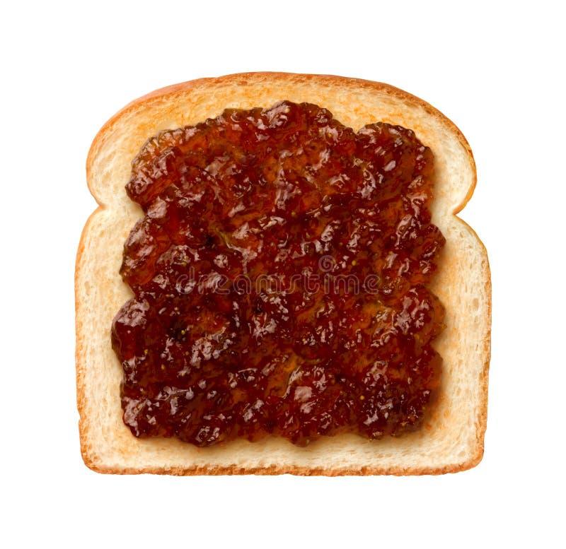 Fig prezerwy na grzance zdjęcia royalty free