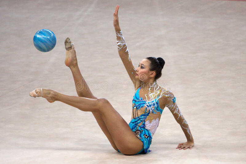 Download FIG Rhythmic Gymnastic WORLD CUP PESARO 2009 Editorial Stock Image - Image: 15120124