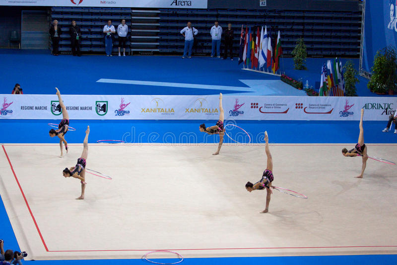Download FIG Rhythmic Gymnastic WORLD CUP PESARO 2009 Editorial Image - Image: 15120535