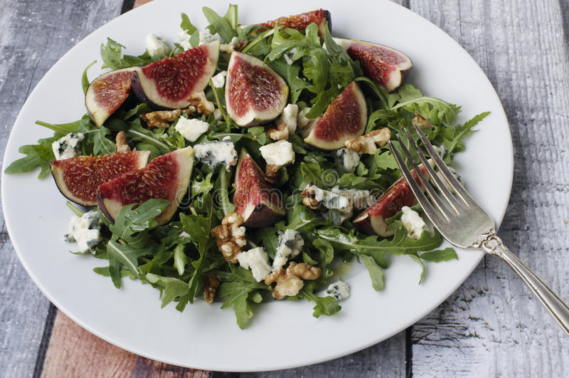 Fig salad stock photos