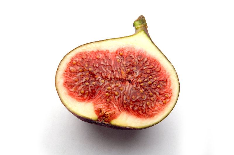 Fig sliced open royalty free stock photo