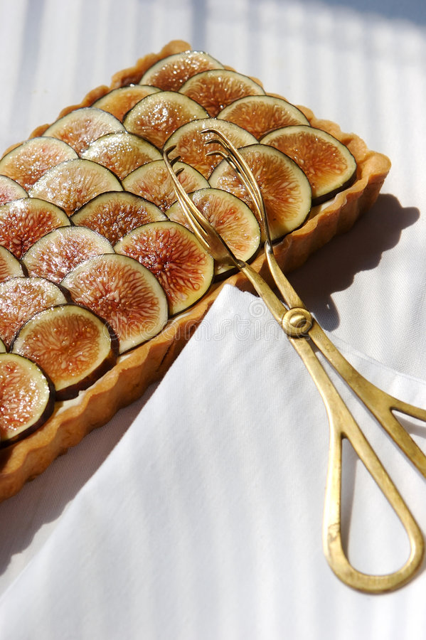 Fig Tart royalty free stock images