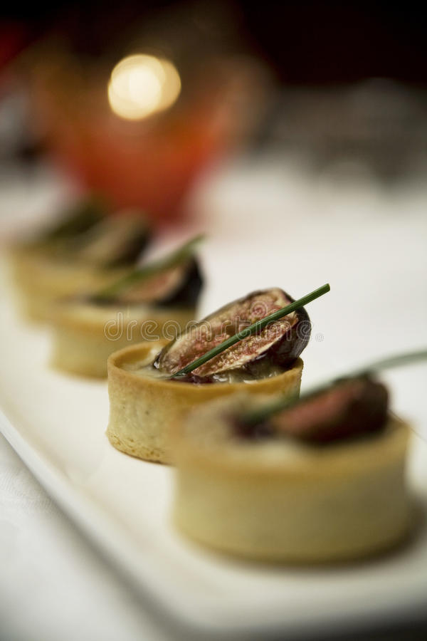 Fig tarts stock image