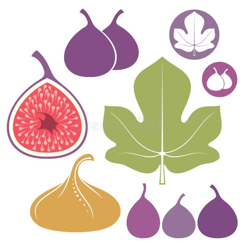 fig. Uppsättning royaltyfri illustrationer