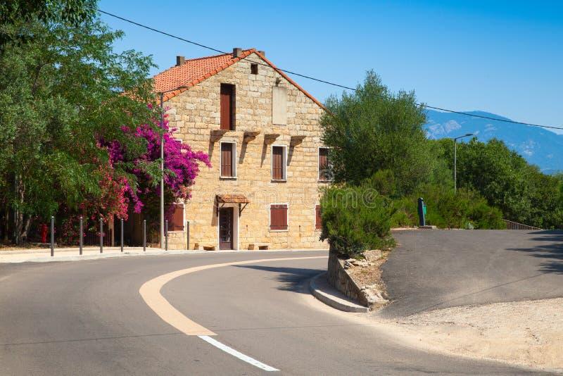 Figari, Corsica del sud Vecchia casa rurar immagini stock