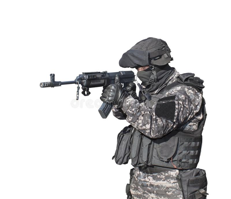 Fight against terrorism, Special Forces soldier stock photography
