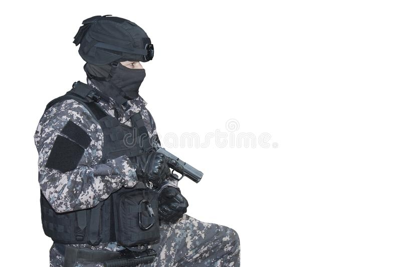 Fight against terrorism, Special Forces soldier royalty free stock photo