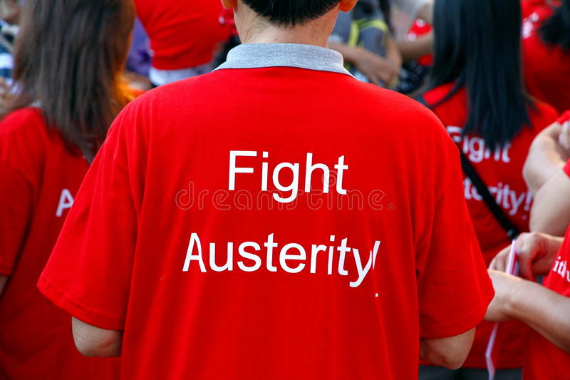 Fight Austerity T-shirt Editorial Photo