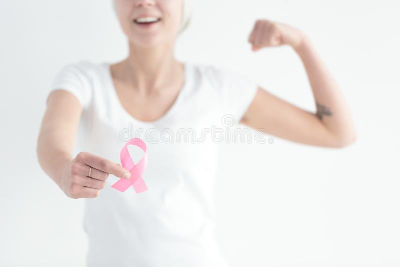 Fight with breast cancer stock photography