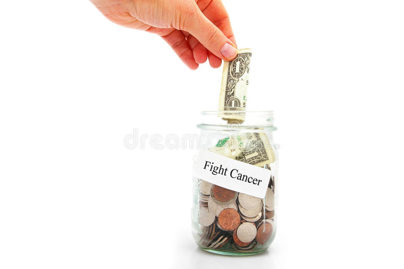 Fight cancer royalty free stock photo