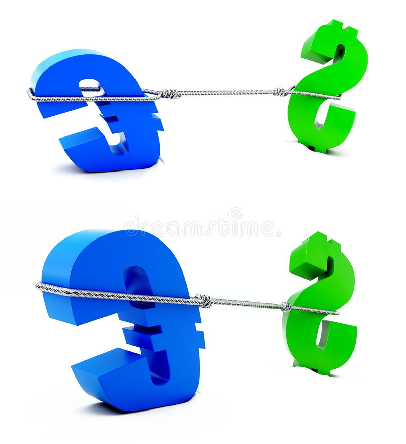 Download Fight of euro and dollar stock illustration. Image of fight - 11446124