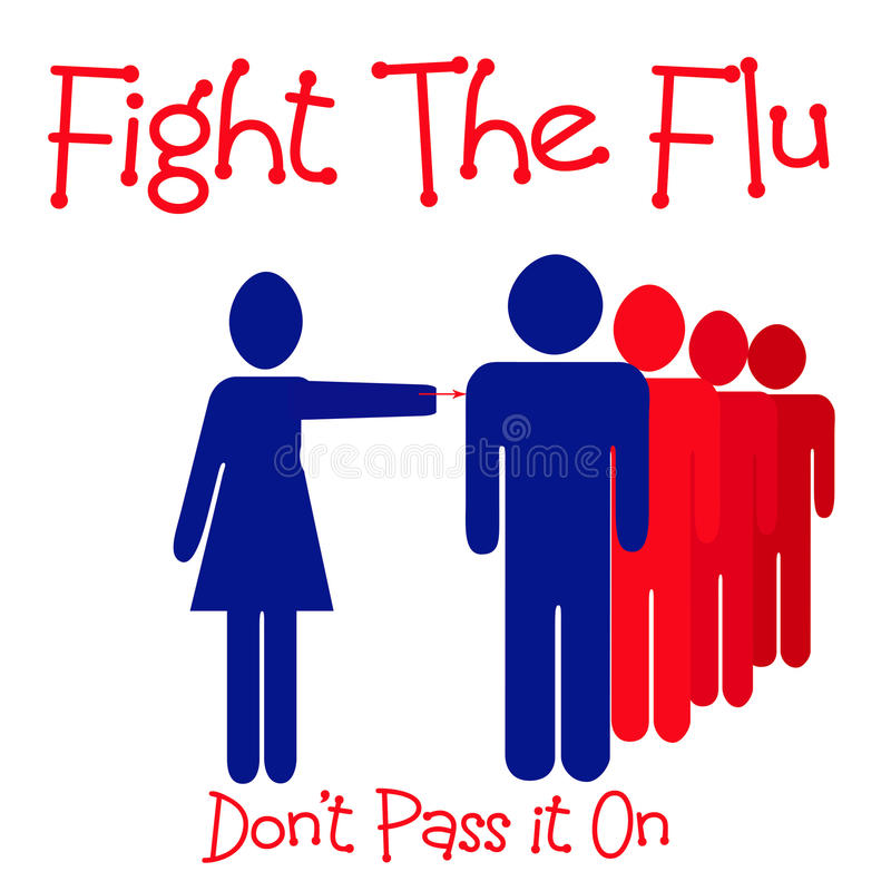 Fight The Flu Royalty Free Stock Images