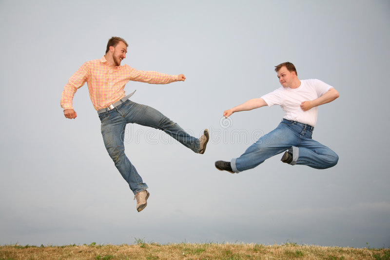 Fight fly man stock photography