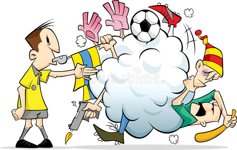 Fight in the soccer/football pitch