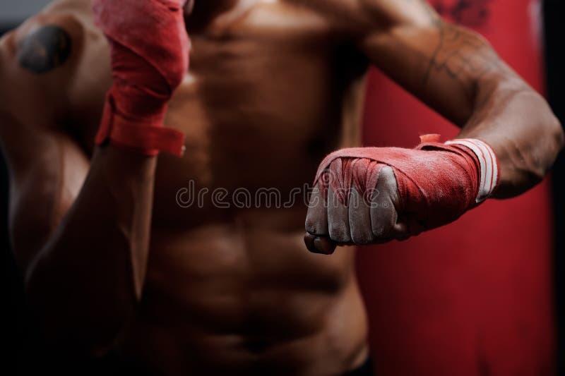 Fight training stock image