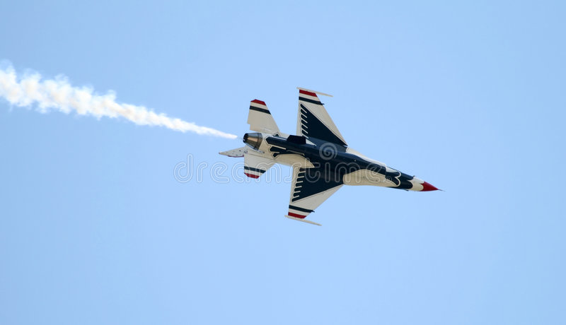 A fighter at a air show royalty free stock photography