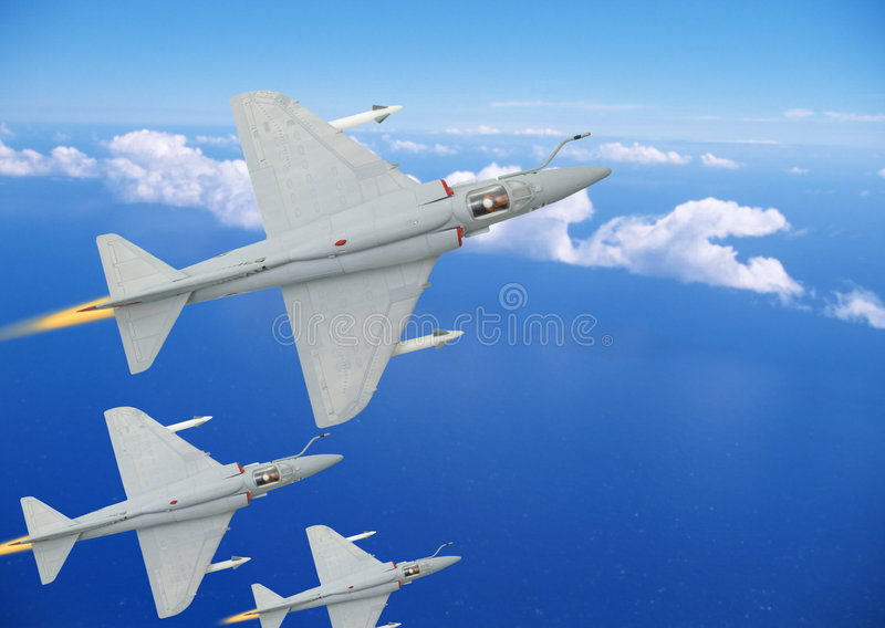 Fighter Airplanes Royalty Free Stock Photo
