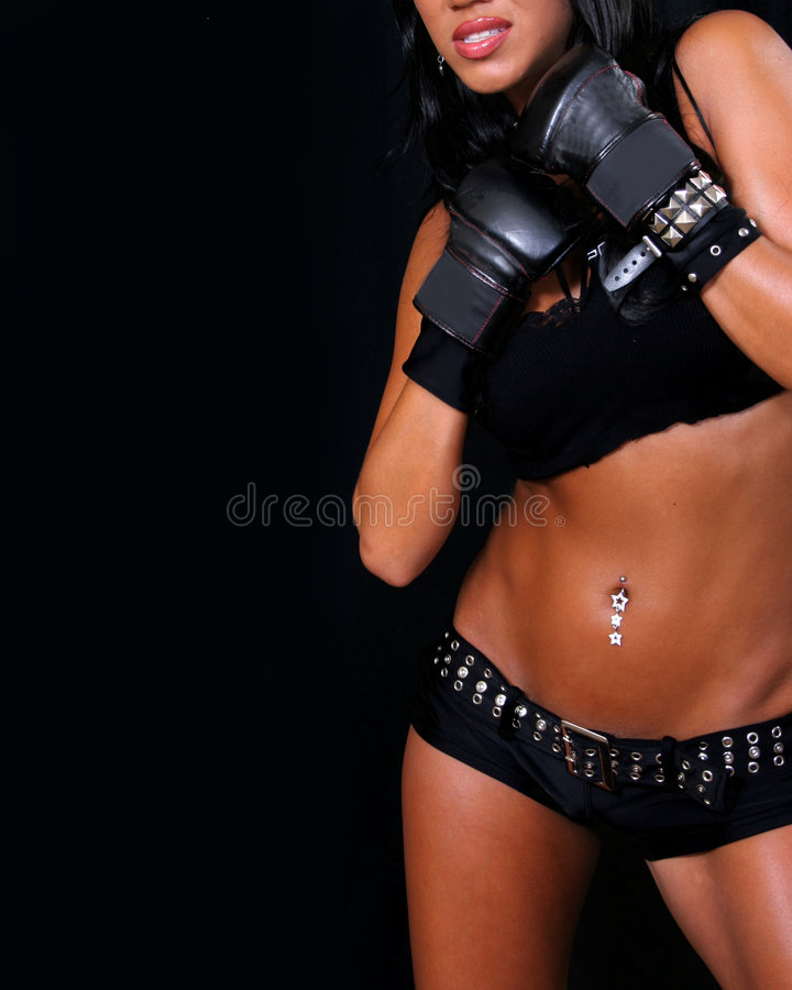 Download Fighter Girl stock photo. Image of pierced, feminine, muscular - 1099488