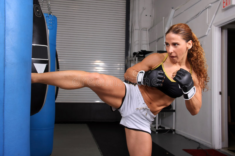 Fighter Girl royalty free stock image