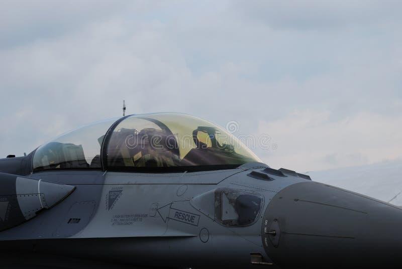 Fighter Jet Cockpit. A photo taken on a fighter jet pilot cockpit royalty free stock photos