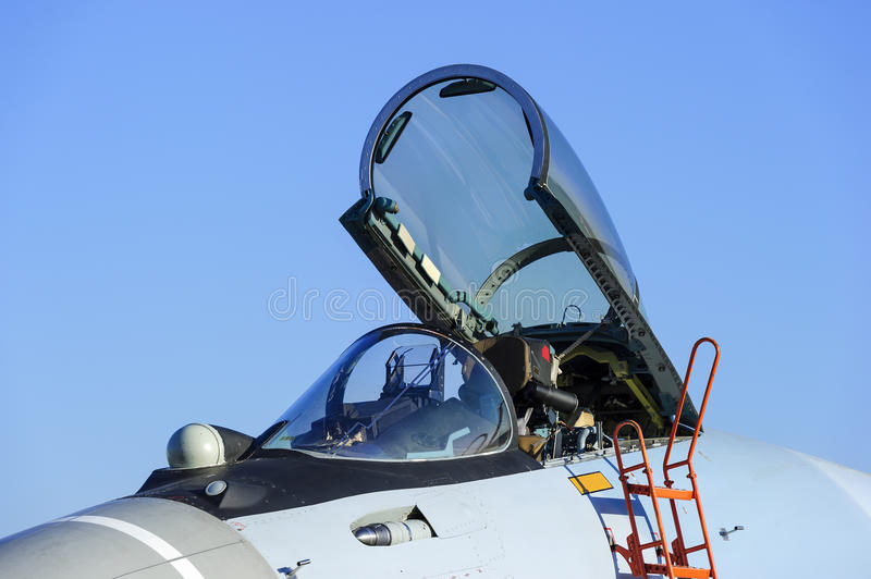 Fighter jet cockpit royalty free stock images