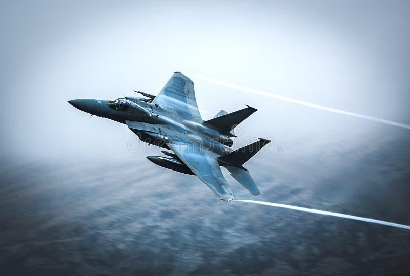Fighter jet F15 stock photo