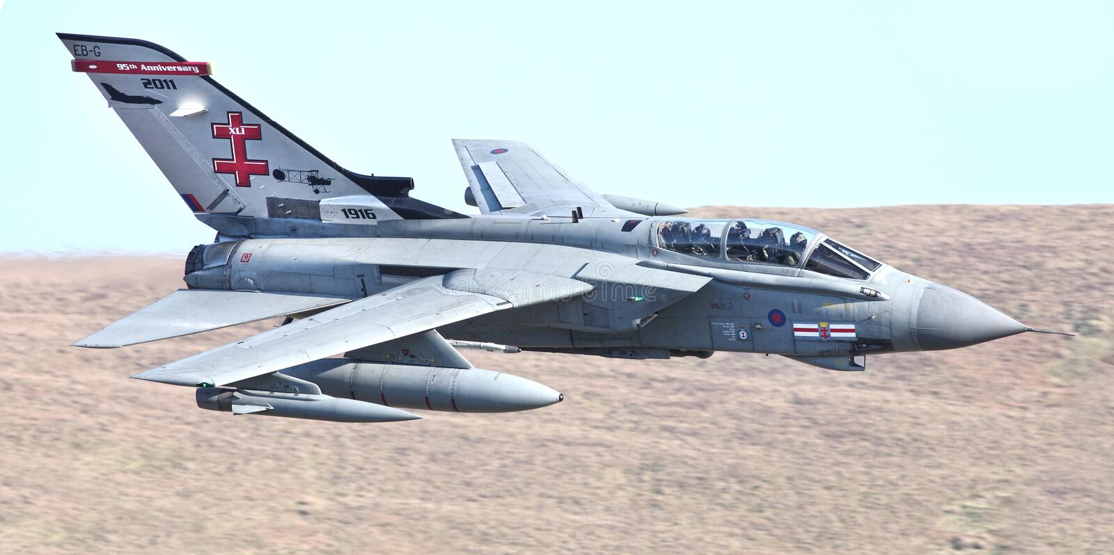 Fighter jet military aircraft stock photo