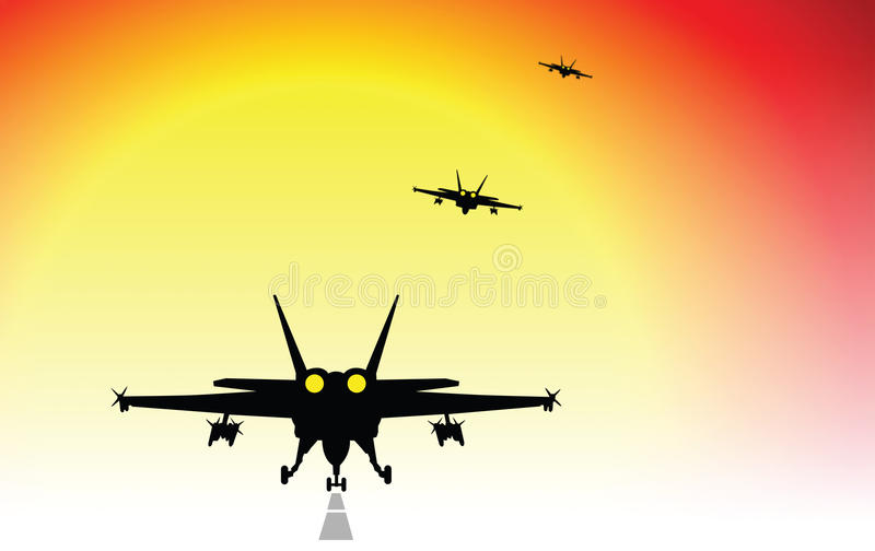 Download Fighter jets stock illustration. Illustration of planes - 18736279