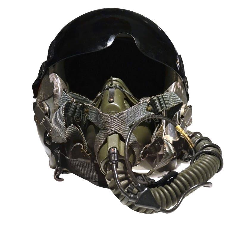 Fighter pilot helmet royalty free stock photos