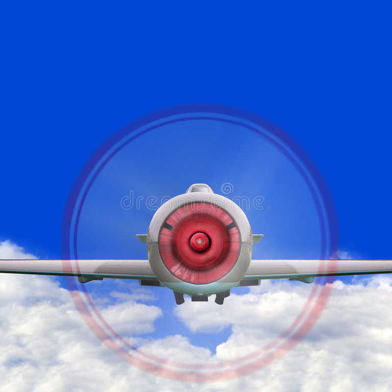 Download Fighter Plane Flying In Clouds Stock Photo - Image: 4370380