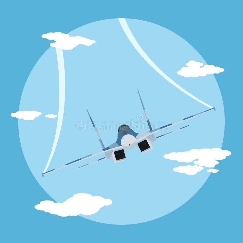 Fighter plane vector illustration
