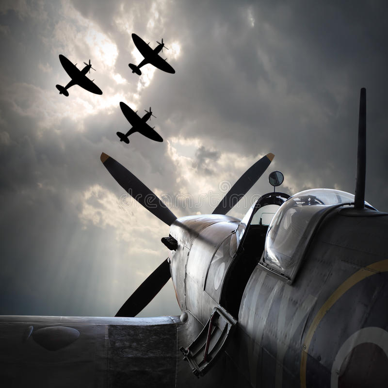 Download The Fighter Planes. Stock Photo - Image: 76424045