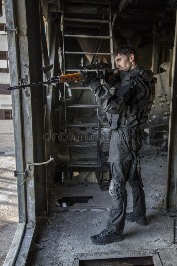 Fighter of the Russian special forces royalty free stock photo