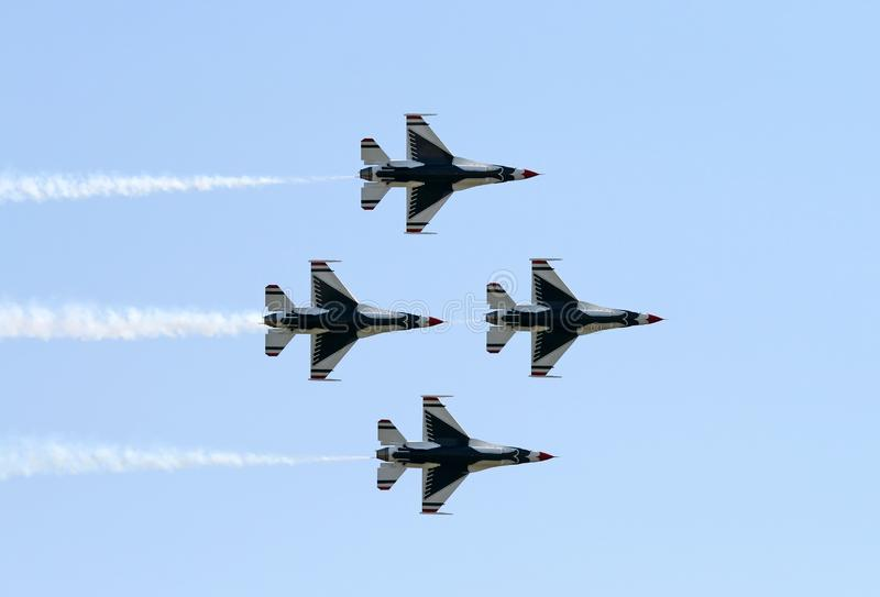 A fighter team formation royalty free stock photo