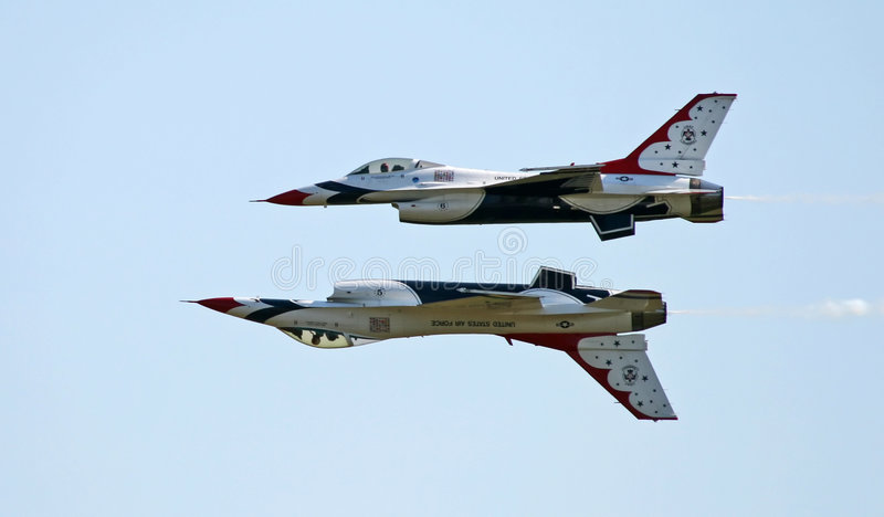 A fighter team formation stock photography