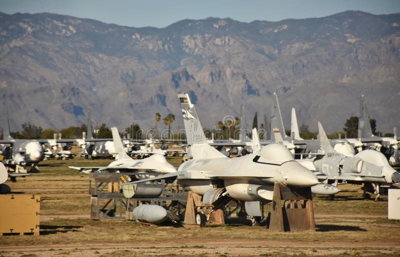 Fighters Jets at the Air Force Boneyard stock image
