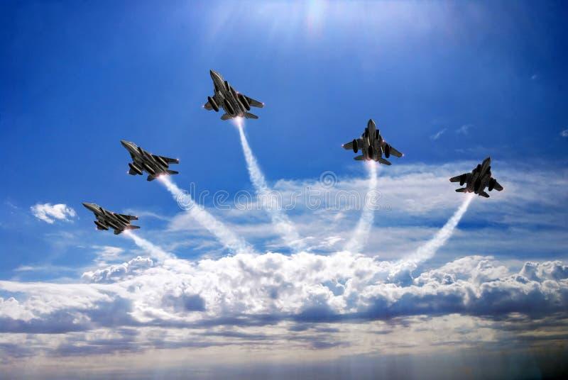 Fighters patrol vector illustration