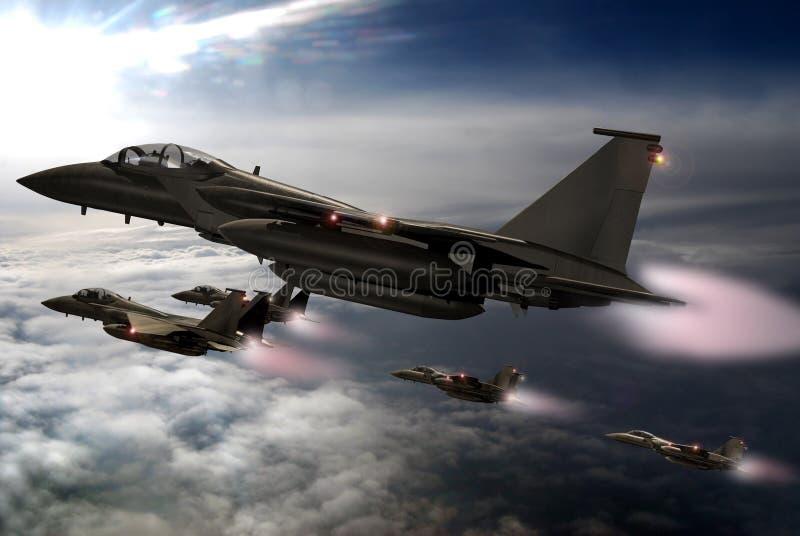 Fighters patrol stock illustration