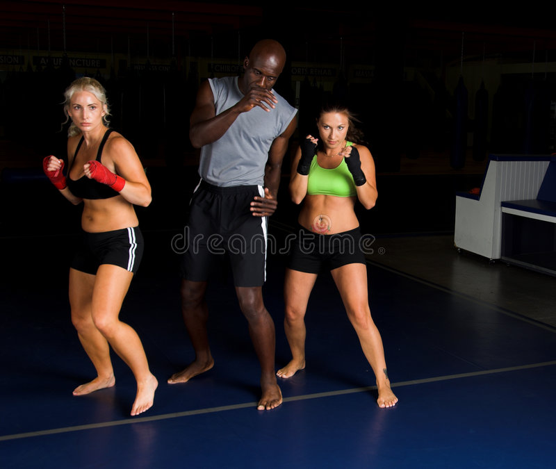 Fighters Training Camp royalty free stock photo