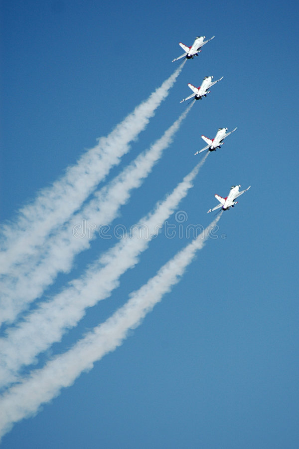 Fighters wing stock image