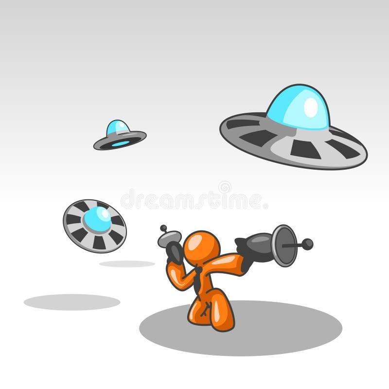 Download Fightinf UFOs illustrazione vettoriale. Illustrazione di volo - 3136783
