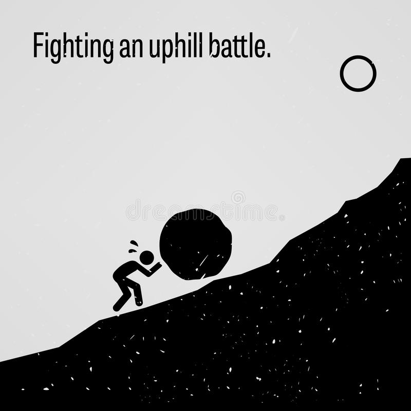 Free Fighting An Uphill Battle Proverb Stock Photo - 49903590