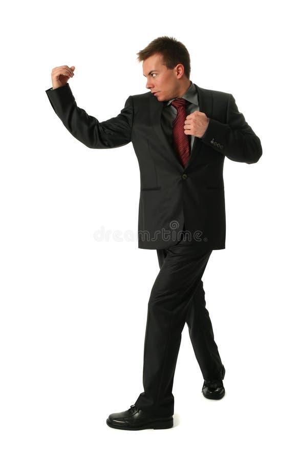 Fighting Businessmen stock photo