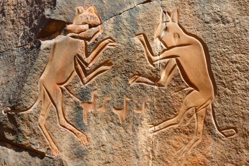 The Fighting Cats  Engraving - Wadi Mathendous