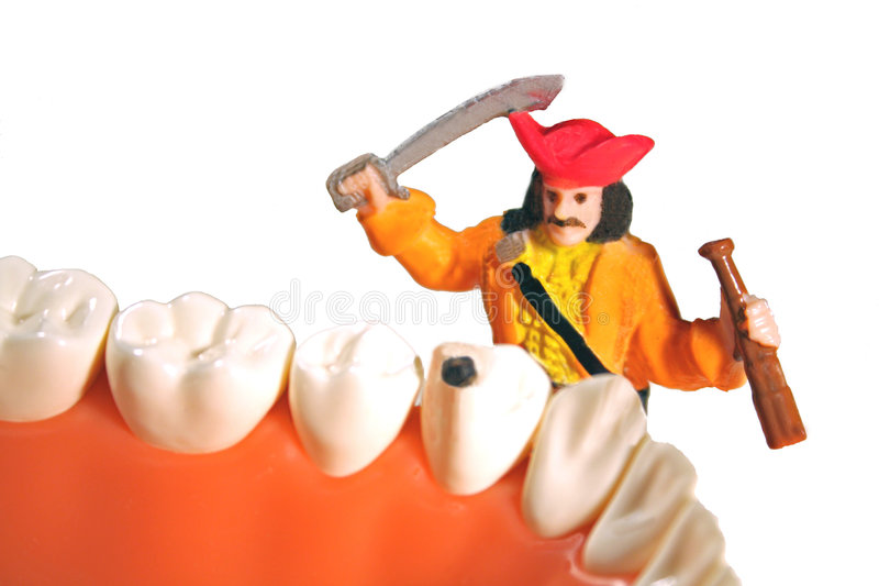 Fighting cavities concept royalty free stock photo