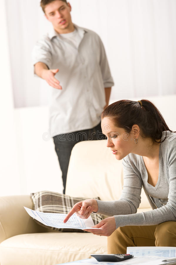 Download Fighting Couple Over Bills And Tax Stock Image - Image: 31443127